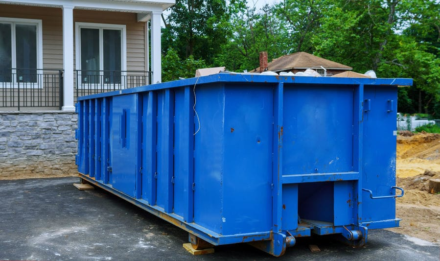 our hired dumpster